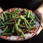 Louibia (Green Beans with Almonds)