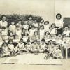 Boys and girls at the Kindergarten of Cattaoui School