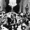 A wedding ceremony at Neve Shalom Synagogue