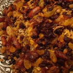 Adas Polow (Rice with lentils, dates, raisins and meat)
