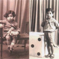 Split photos of Daniel on April 7, 1934